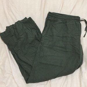 ☀️OFFERS☀️Green Linen Blend Pants!